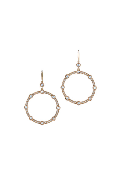 Irene Neuwirth - 18K Rose Gold Pavé Diamond Earrings