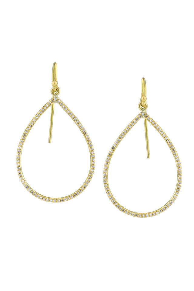 Yellow Gold Pear-Shaped Diamond Earrings