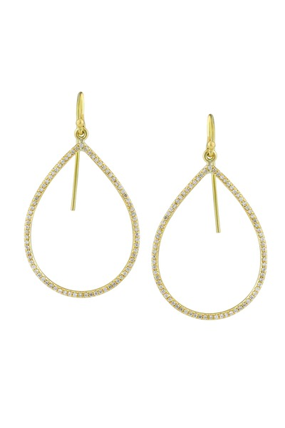 Irene Neuwirth - Yellow Gold Pear-Shaped Diamond Earrings
