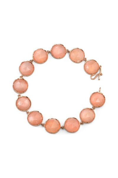 Irene Neuwirth - Rose Gold Peach Moonstone Bracelet