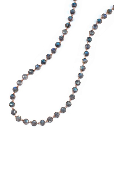 Irene Neuwirth - Rose Gold Rose-Cut Labradorite Necklace