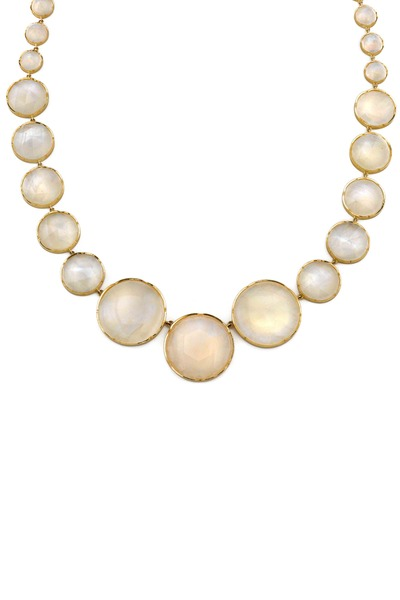 Irene Neuwirth - Gold Rainbow Moonstone Necklace