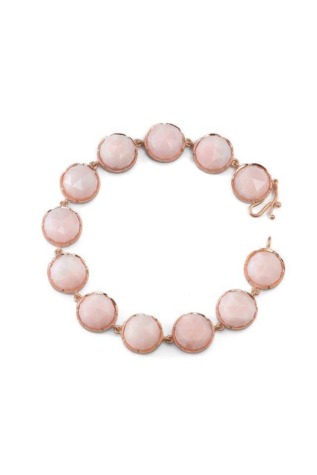 Rose Gold Pink Opal Bracelet