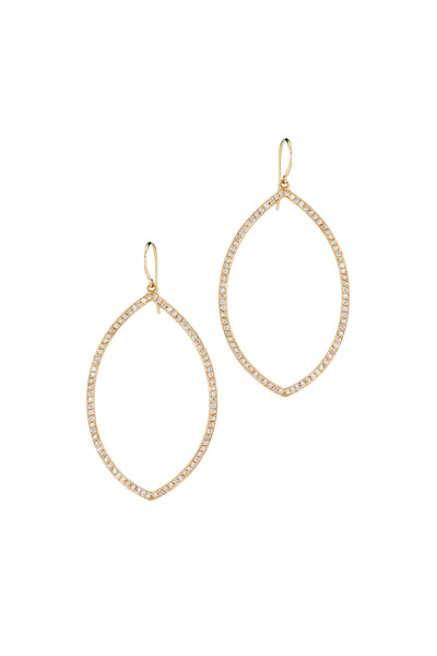 Irene Neuwirth - Rose Gold Marquise Pavé-Set Diamond Earrings
