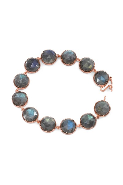 Irene Neuwirth - Rose Gold Rose-Cut Labradorite Bracelet