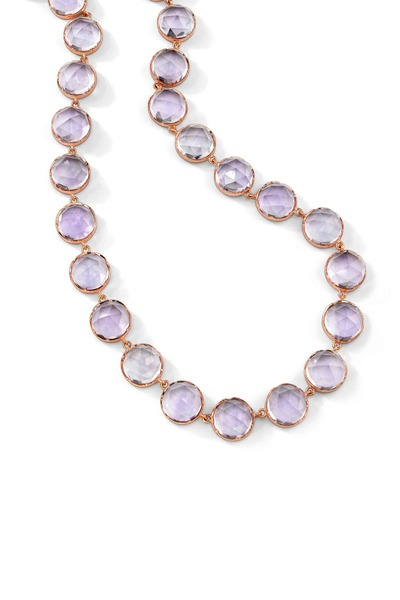 Irene Neuwirth - Rose Gold Rose De France Amethyst Necklace