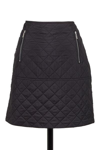 Bogner - Maggy Black Diamond Quilted Nylon Mini Skirt