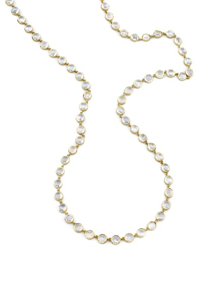Irene Neuwirth - Gold Rose-Cut Rainbow Moonstone Necklace