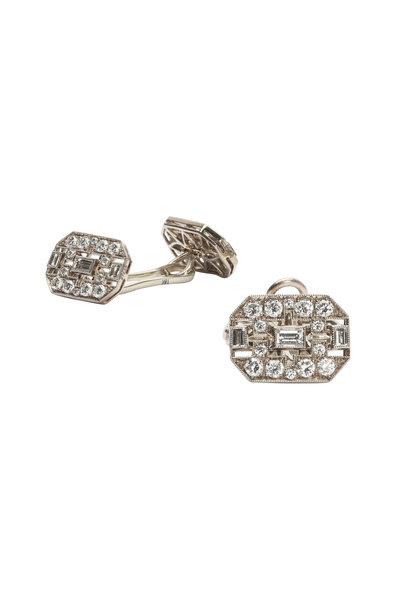 Kwiat - 18K White Gold Diamond Cuff Links