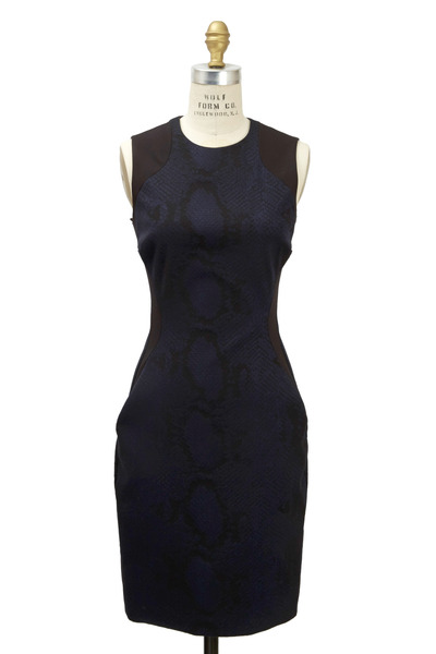 Stella McCartney - Indigo Python Dress