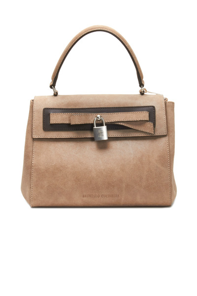 Brunello Cucinelli - Taupe Distressed Calfskin Satchel