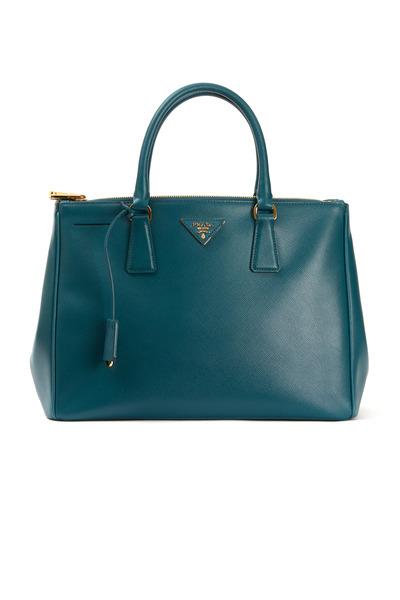 Prada - Teal Saffiano Sport East West Meduim Handbag