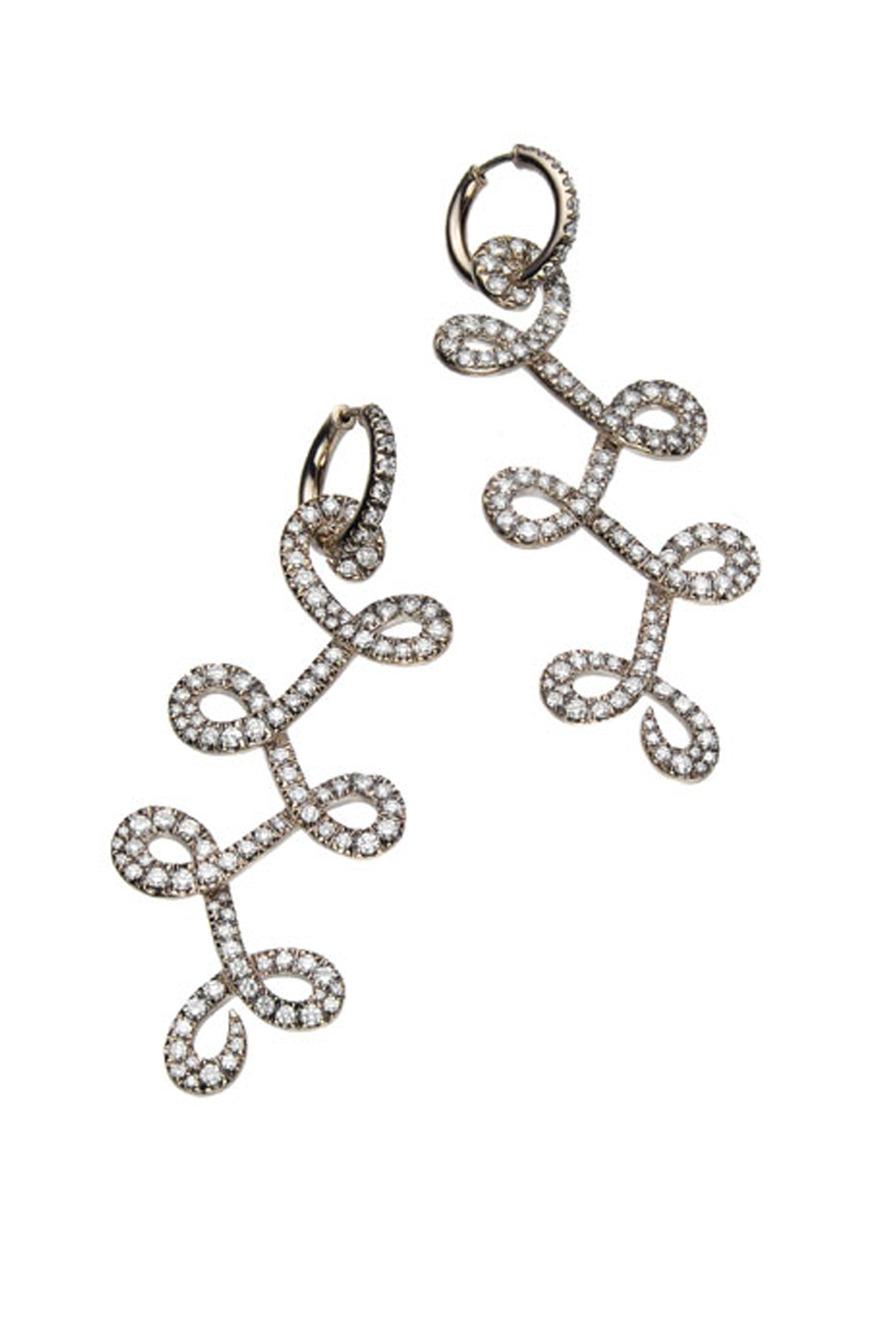 Noble Gold Diamond Celtic Dunes Earrings