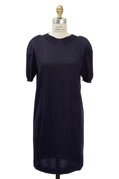 Agnona - Navy Blue Cashmere Dress