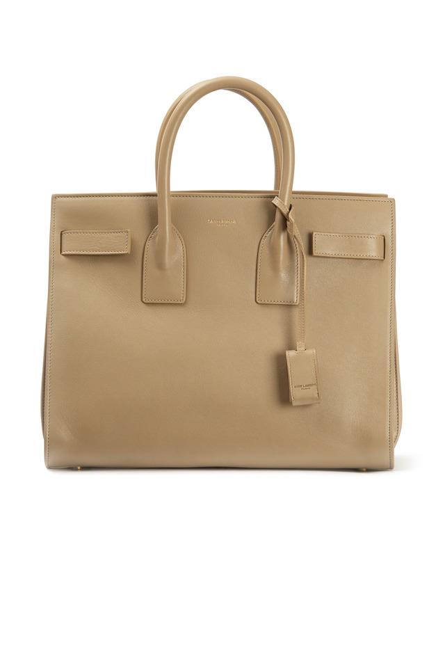 Sac De Jour Beige Leather Small Handbag
