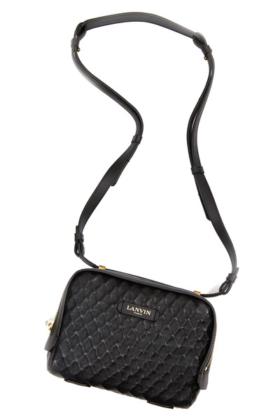 Lanvin - Padam Black Embossed Leather Mini Crossbody Bag