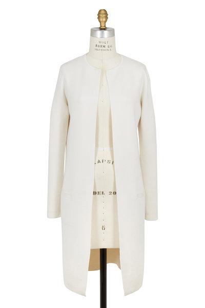 Ralph Lauren - White Cashmere & Silk Long Cardigan
