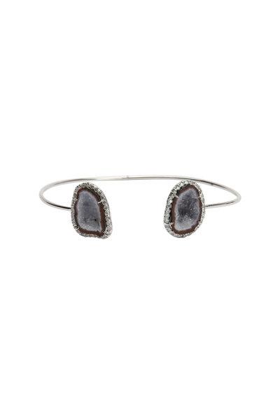 Kimberly McDonald - 18K White Gold Geode & Diamond Cuff Bracelet
