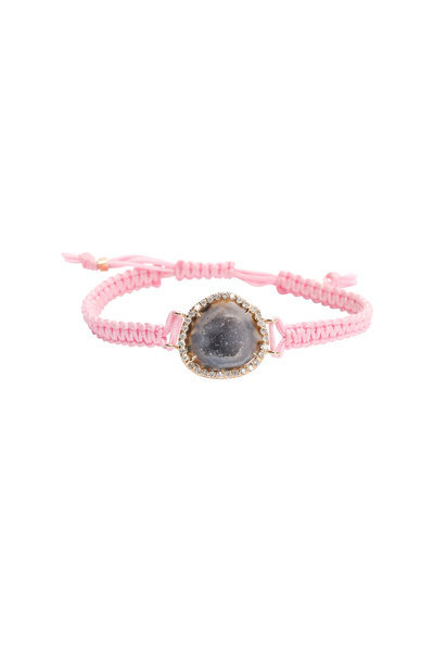Kimberly McDonald - 18K Rose Gold & Macrame Geode & Diamond Bracelet