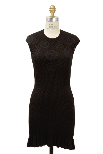 Alexander McQueen - Black Cotton Dress