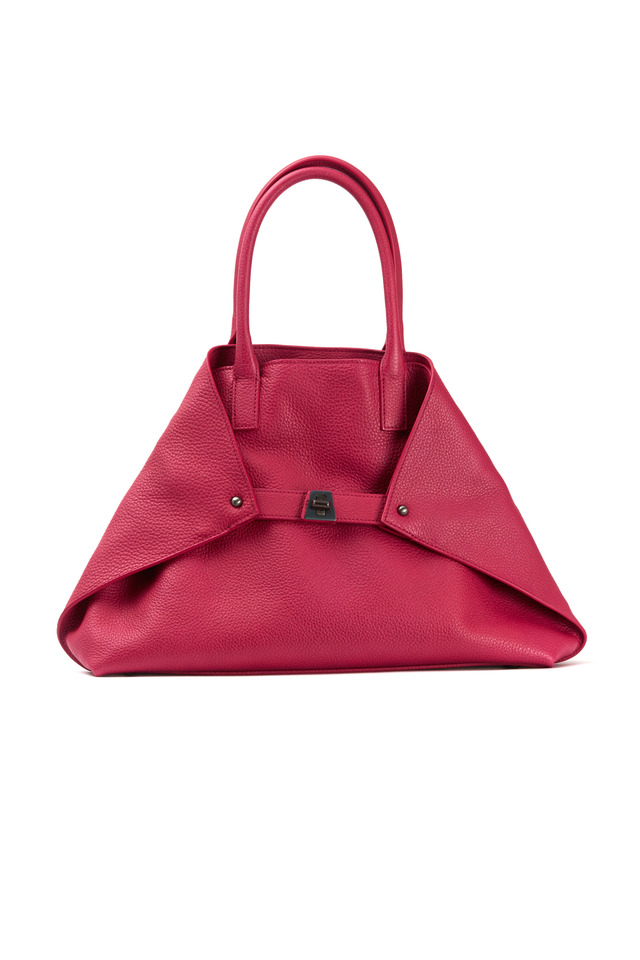 Ai Cervo Fuchsia Leather Small Tote