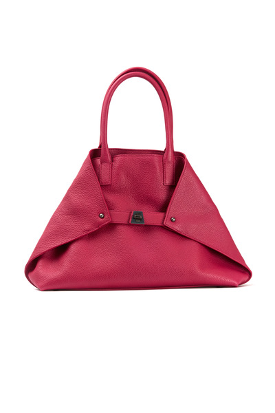 Akris - Ai Cervo Fuchsia Leather Small Tote