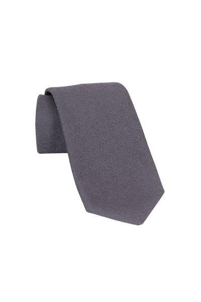 Charvet - Gray  Wool & Silk Necktie