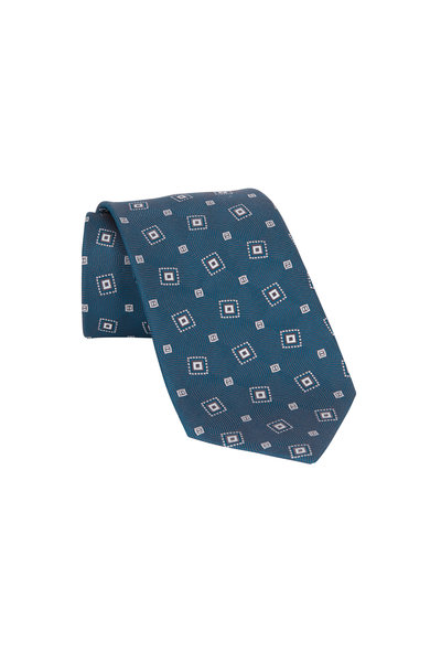 Charvet - Green Patterned Silk Necktie