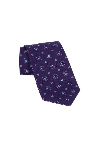 Charvet - Purple Patterned Silk Necktie