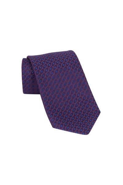 Charvet - Purple & Blue Diamond Silk Necktie