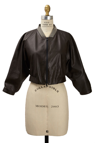 Brunello Cucinelli - Volcano Leather Jacket