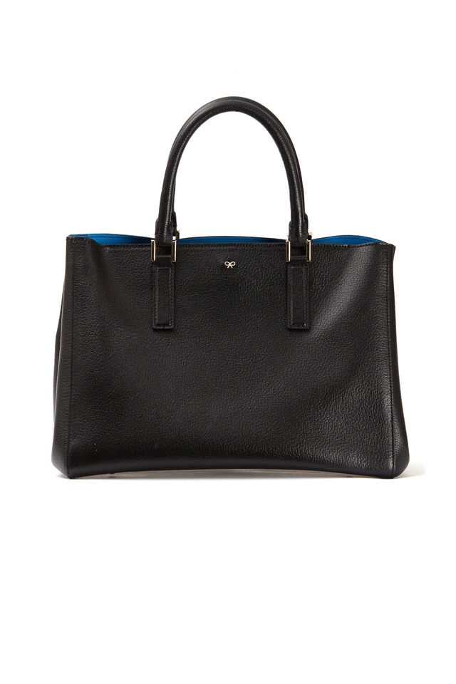 Ebury Black Leather Small Satchel