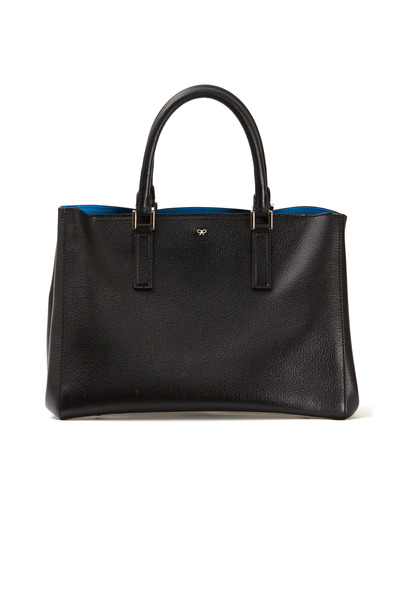 Anya Hindmarch - Ebury Black Leather Small Satchel