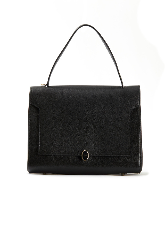 Bathurs Black & Blue Leather Small Satchel