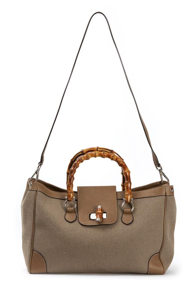 Marcella Taupe Canvas Handbag