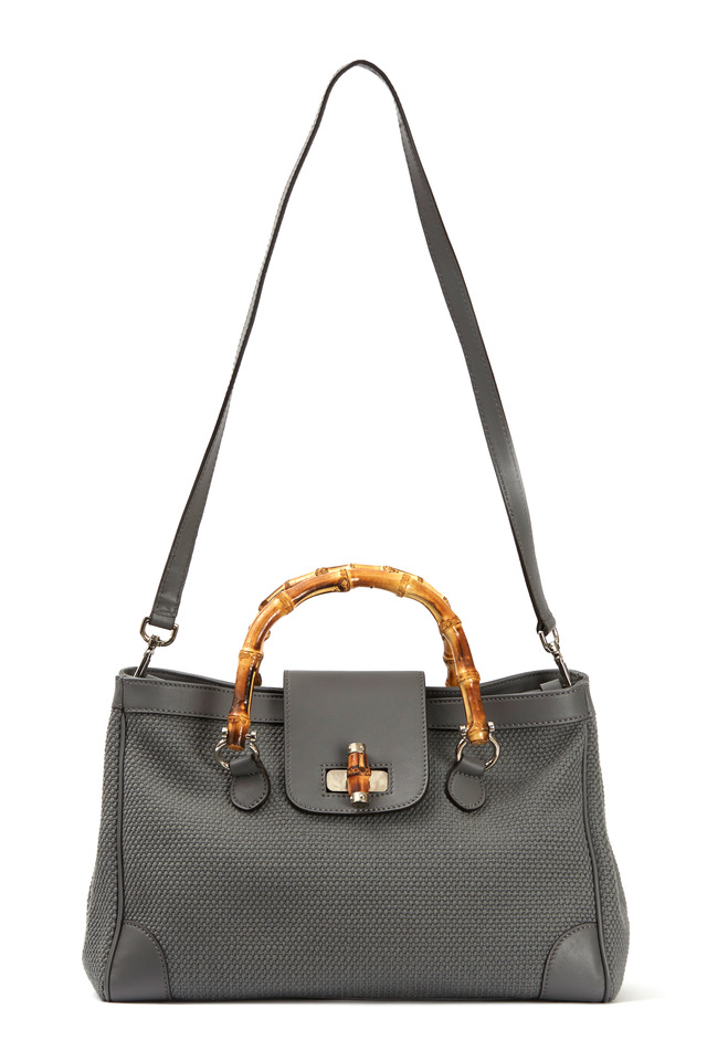 Marcella Grey Canvas Handbag