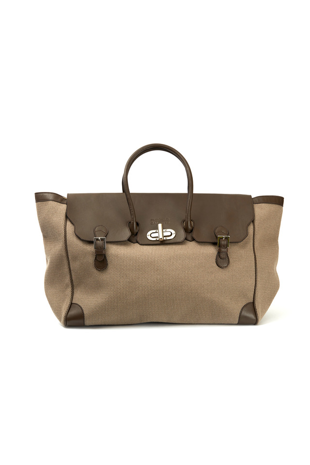 Marcella Grande Canvas Taupe East West Handbag