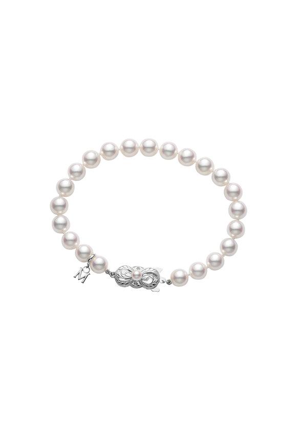 Mikimoto 18K White Gold Pearl Bracelet
