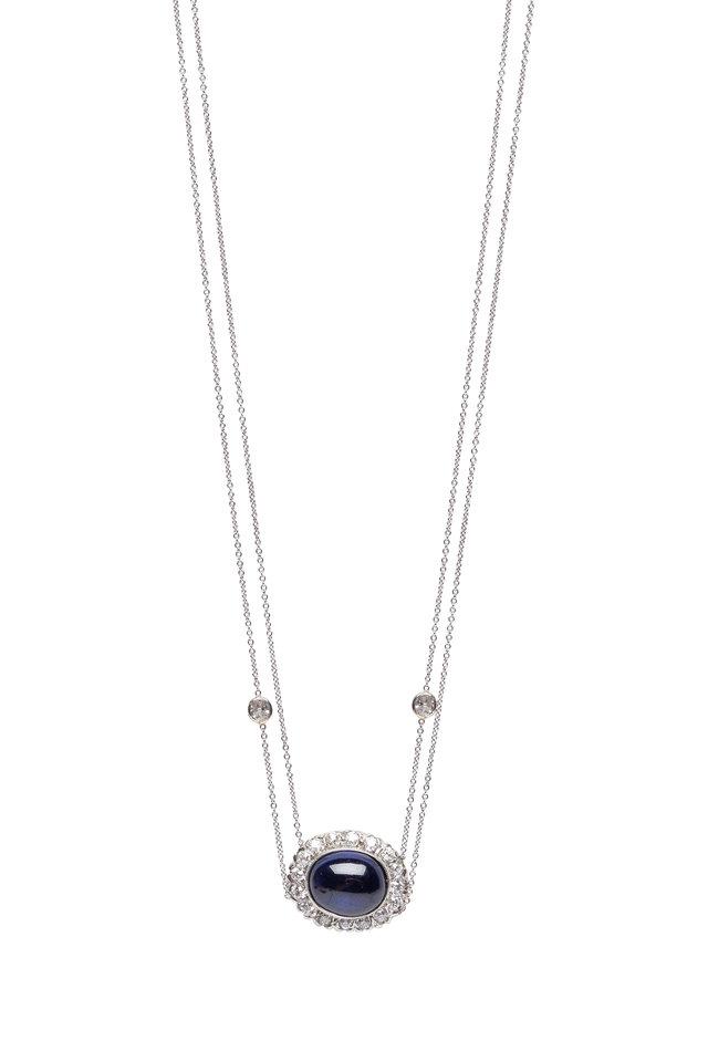 Blue Sapphire Pendant Necklace