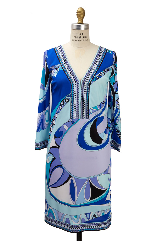 Blue Viscose Tunic