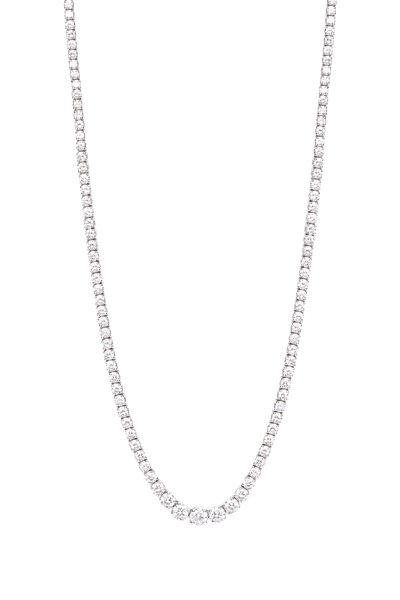 Kwiat - 18K White Gold Diamond Necklace