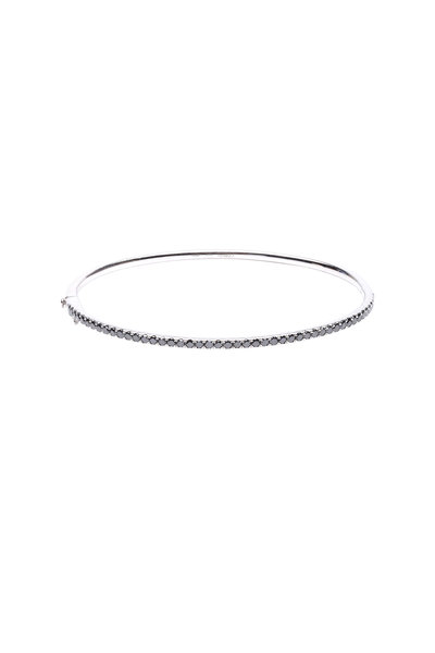 Kwiat - 18K White Gold Black Diamond Stackable Bracelet
