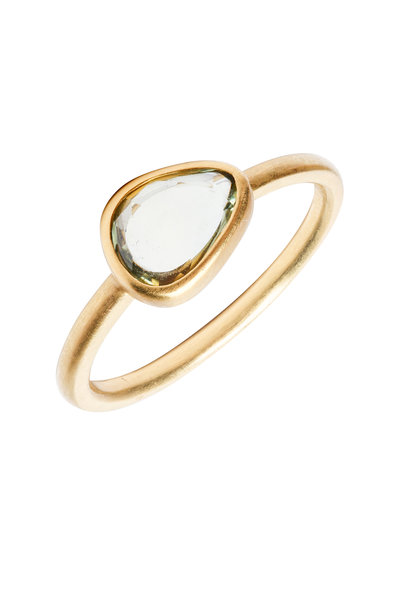 Caroline Ellen - 20K Yellow Gold Green Sapphire Ring