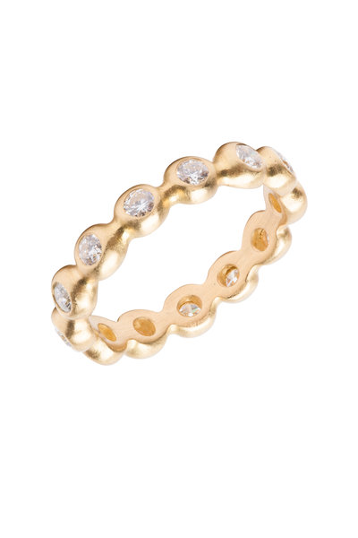 Caroline Ellen - 20K Yellow Gold Diamond Ball Ring