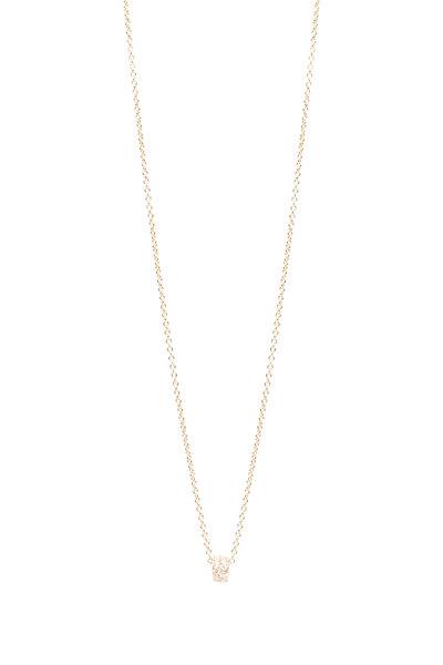 Caroline Ellen - 18K Yellow Gold Pavé Diamond Rondelle Chain