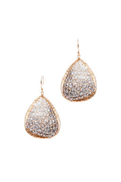 Dana Kellin - 14K Yellow Gold Mixed Sapphire Earrings
