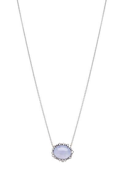 Kimberly McDonald - Blue White Gold Pendant Fancy Necklace