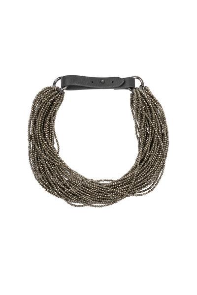Brunello Cucinelli - Hematite Multi-Strand Choker Necklace
