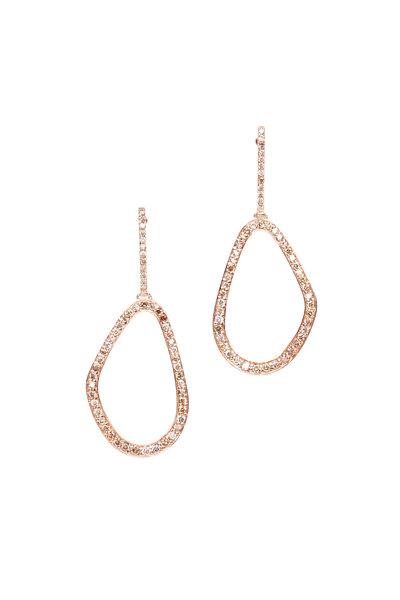 Kimberly McDonald - 18K Rose Gold Freeform Brown Diamond Earrings