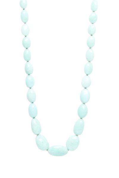 Caroline Ellen - 20K Green Opal Bead Necklace